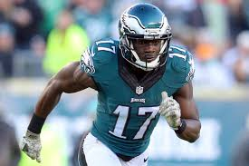 Nelson Agholor playing with the Philadelphia Eagles